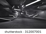 empty dark abstract concrete... | Shutterstock . vector #312007001