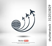 globe with airplane icon  ... | Shutterstock .eps vector #312013829