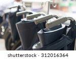 Wheelchair Handles  Close Up