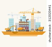 construction of modern... | Shutterstock .eps vector #312020441