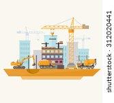 construction of modern... | Shutterstock .eps vector #312020441