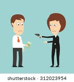 business woman threatening with ... | Shutterstock .eps vector #312023954