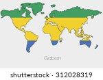 a flag illustration inside the... | Shutterstock . vector #312028319