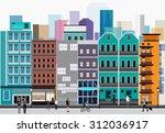 vector design   eps10 city... | Shutterstock .eps vector #312036917