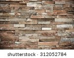 Natural Stone Wall Background...