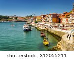the douro river and colorful... | Shutterstock . vector #312055211