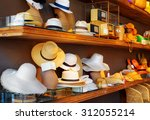 a wide range of hats in shop. | Shutterstock . vector #312055214