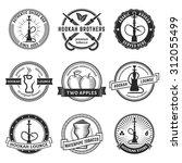 Set Of Hookah Labels. Vintage...