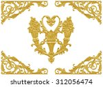 ornament elements  vintage gold ... | Shutterstock . vector #312056474