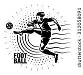 football striker. illustration... | Shutterstock .eps vector #312058091