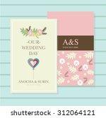 wedding invitation card suite... | Shutterstock .eps vector #312064121