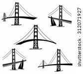 golden gate bridge san... | Shutterstock .eps vector #312071927