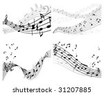set of vector musical notes...   Shutterstock .eps vector #31207885