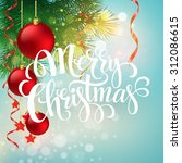 christmas greeting card. vector ... | Shutterstock .eps vector #312086615