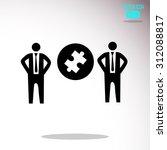 puzzle  businessman symbol | Shutterstock .eps vector #312088817
