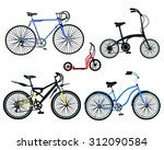 bike  bicycle  scooter | Shutterstock .eps vector #312090584