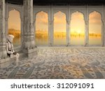 Old Man Near Ganges In The...