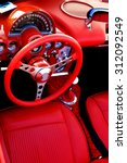 Detail Of Interior Red Sports...