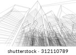 abstract architectural... | Shutterstock .eps vector #312110789