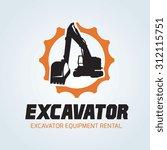 Excavator Vector Logo Template