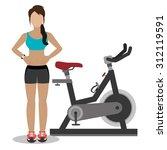 fitness women lifestyle design  ... | Shutterstock .eps vector #312119591