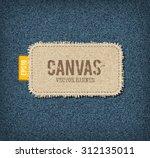 vector textured rough canvas... | Shutterstock .eps vector #312135011