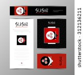 template of identity for sushi... | Shutterstock .eps vector #312136211