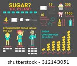 illustration of sugar... | Shutterstock .eps vector #312143051