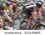 bicycle race   group of people... | Shutterstock . vector #312143885