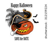 halloween poster. image of a...   Shutterstock .eps vector #312159224