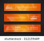 abstract banner design ... | Shutterstock .eps vector #312159689