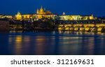 view of the charles bridge and... | Shutterstock . vector #312169631