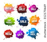 Colorful Vector Splashes Set....
