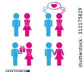 man  woman set icon | Shutterstock .eps vector #312175829