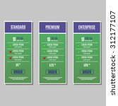bright pricing table  banner ... | Shutterstock .eps vector #312177107