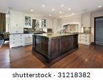 kitchen in new construction home | Shutterstock . vector #31218382