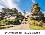 Weathered Brimham Rocks  ...