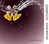 christmas vector sparkly... | Shutterstock .eps vector #312188405