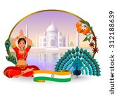 journey to india. in the... | Shutterstock .eps vector #312188639
