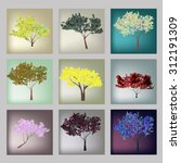 set of trees | Shutterstock . vector #312191309
