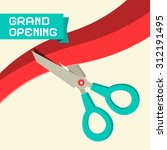 grand opening vector with... | Shutterstock .eps vector #312191495