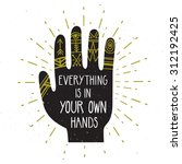 vector vintage card with hand... | Shutterstock .eps vector #312192425