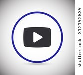 video play icon. one of set web ...