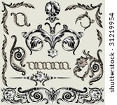 collection of classical ornate elements