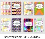 abstract flyers design .... | Shutterstock .eps vector #312203369