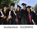 college students at graduation... | Shutterstock . vector #312204941