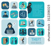 stealing and theft icons set... | Shutterstock .eps vector #312208325