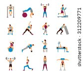 strength training workout set... | Shutterstock .eps vector #312209771
