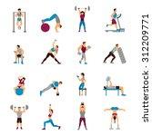 strength training workout set... | Shutterstock .eps vector #312209771