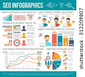 web infographics set with seo...   Shutterstock .eps vector #312209807